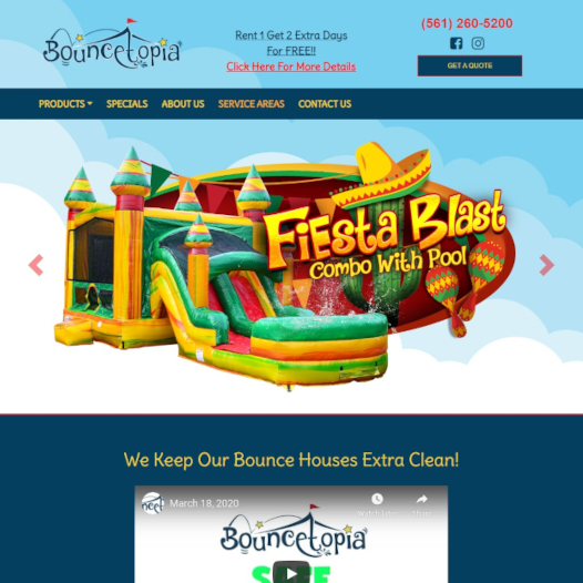 Bouncetopia Website
