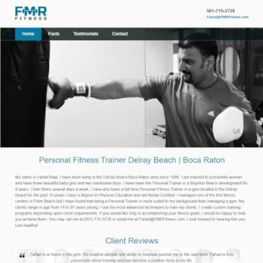 FMR Fitness Website