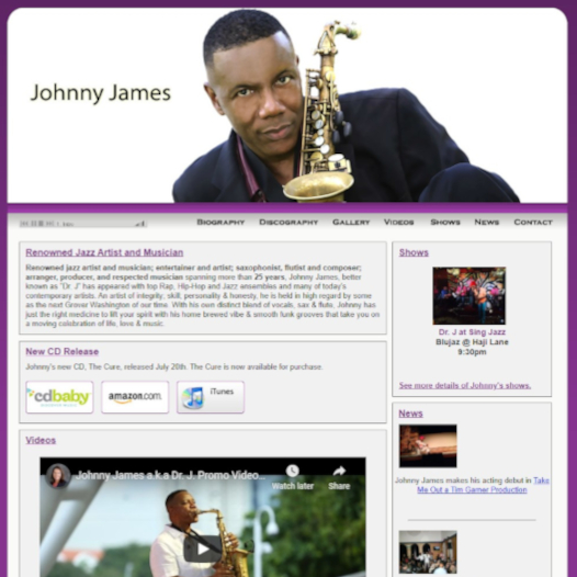 Johnny James Website